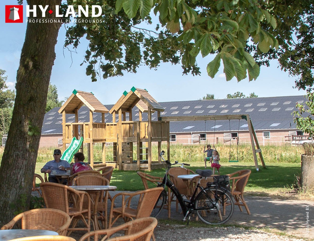 Spielturm Hy-Land P8-S in Douglasie