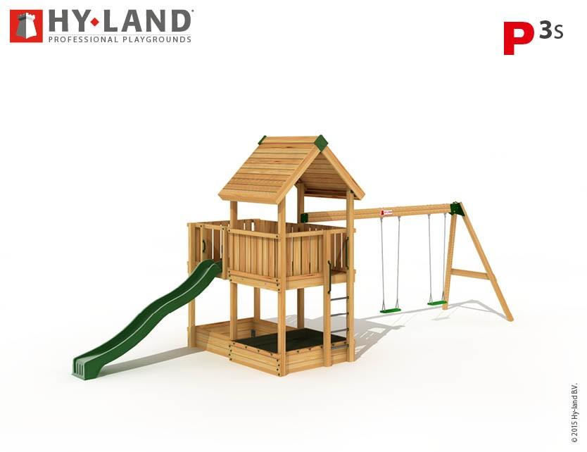 Hy-Land Spielturm P3-S mit Anbauschaukel