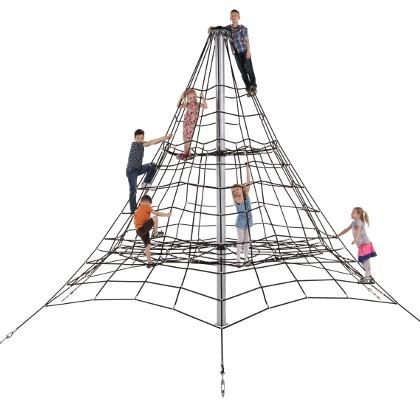 Klettergerüst, Kletternetz, 4,5 m hoch Spielplatz Kletterpyramide