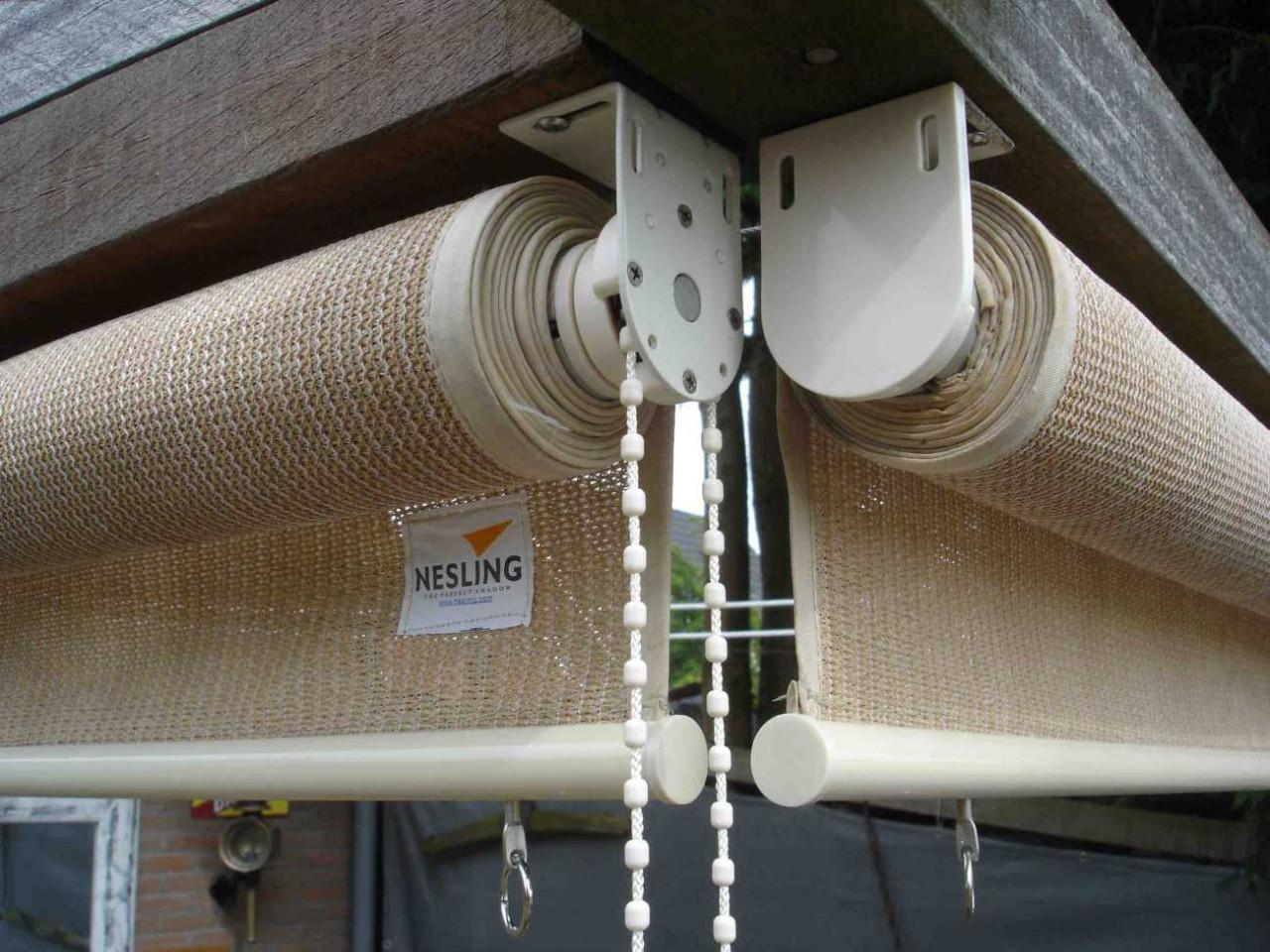 Nesling Rollo 148 cm Außenrollo, Sonnenschutz, Sichtschutz, Balkonrollo