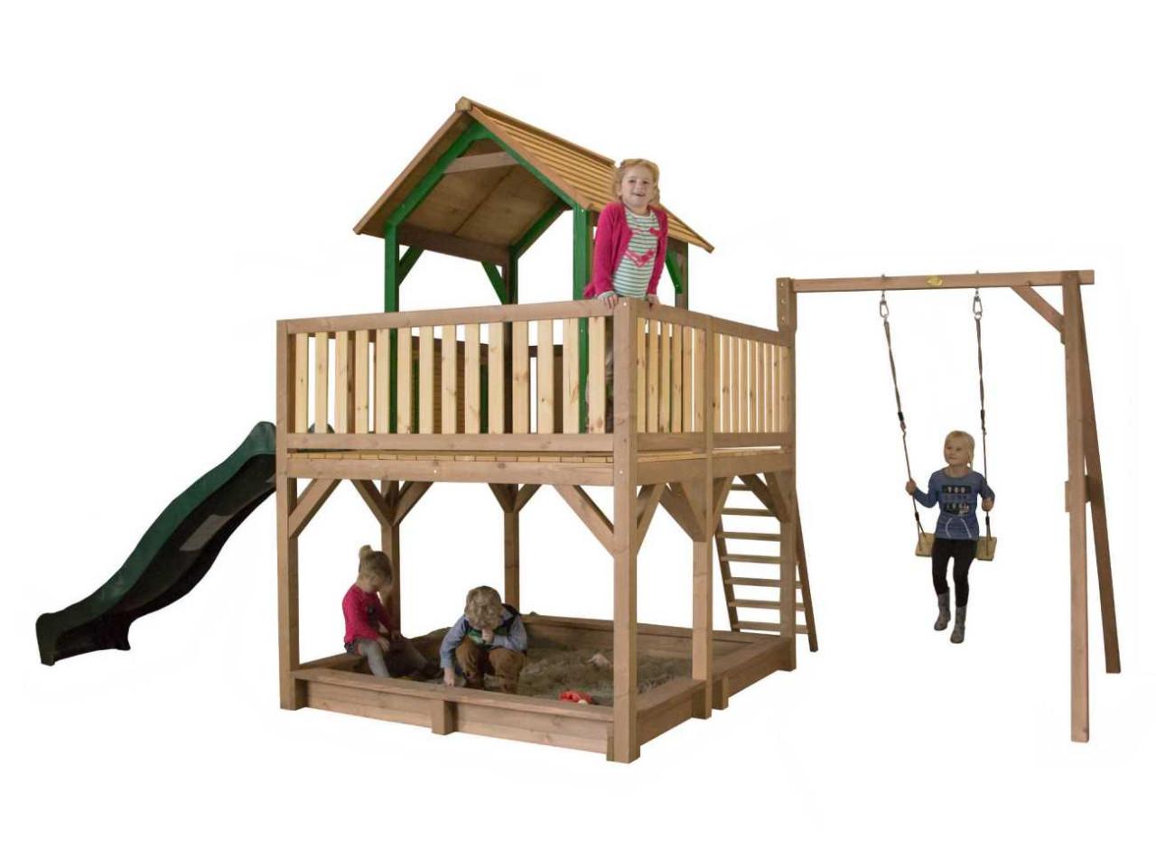 Spielturm Atka mit 1-Schaukel, Axi Spielturm, Kinder
