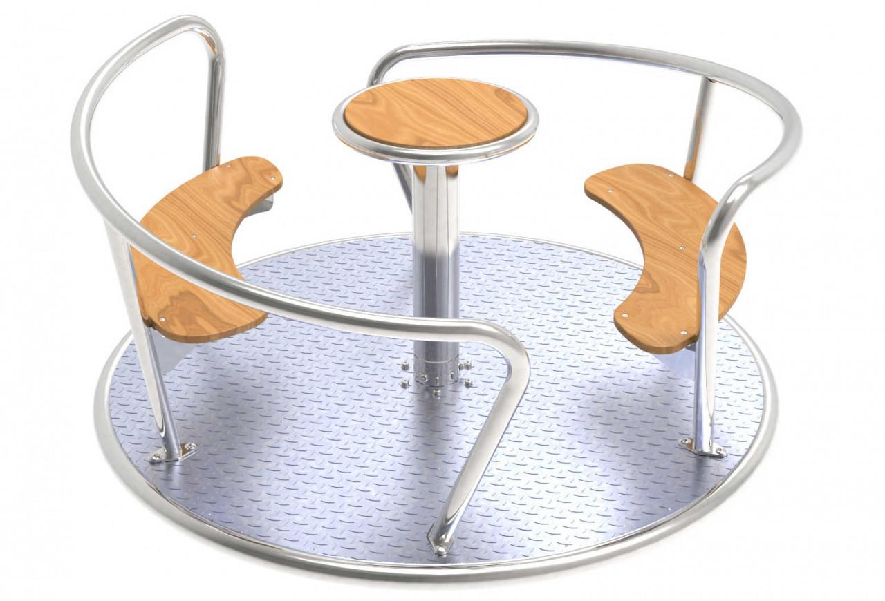 Karussell, Sitzkarussell, mit Edelstahl Rahmen, Kinder Spielplatz