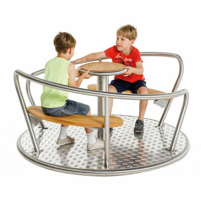 Karussell, Sitzkarussell, mit Edelstahl Rahmen, Kinder Spielplatz, Kinder Karussell