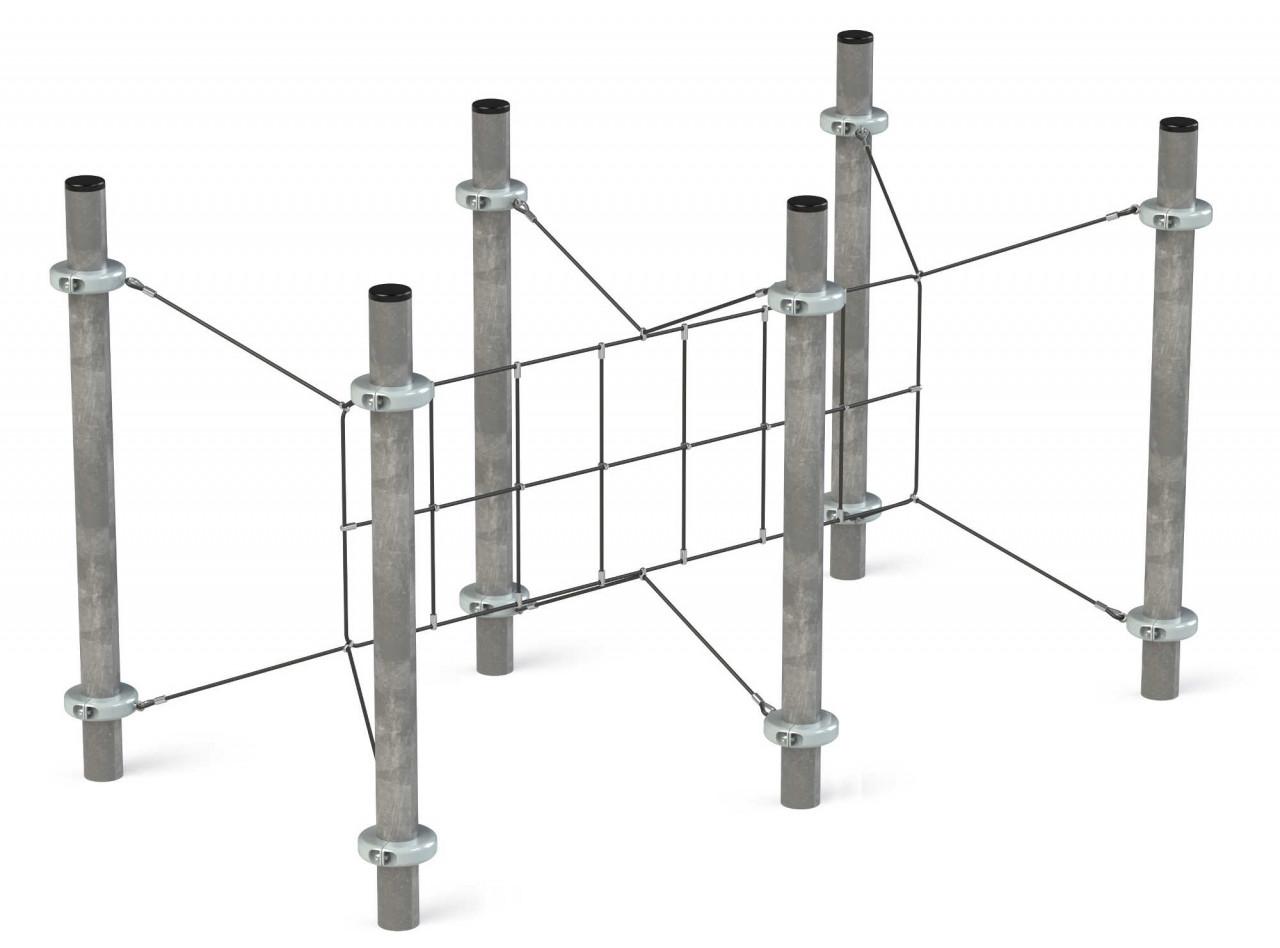 Klettergerüst Kletternetz Bulwark für Kinder Spielplätze nach DIN EN 1176