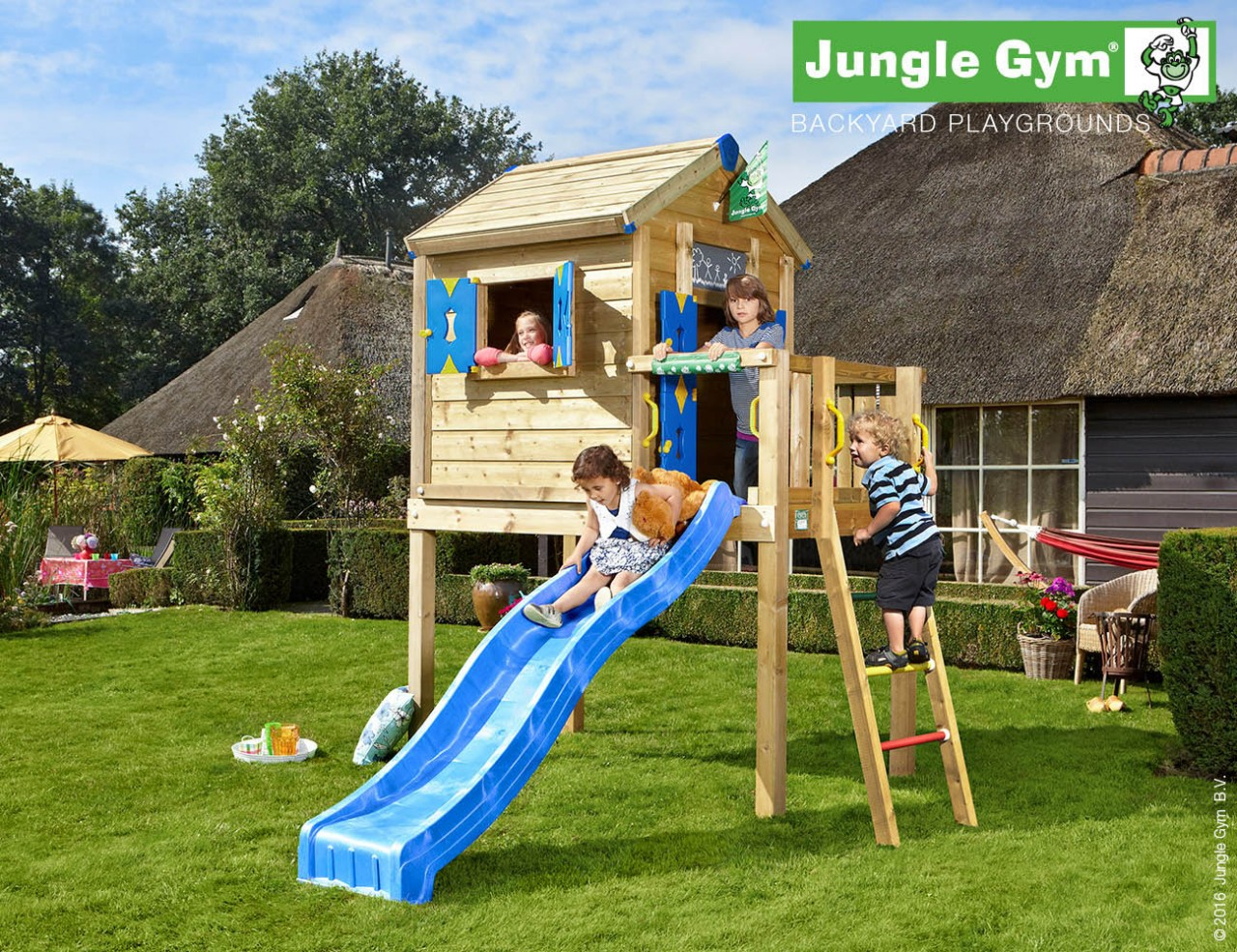 Stelzenhaus Kinder Jungle Gym Playhouse L in Douglasie natur