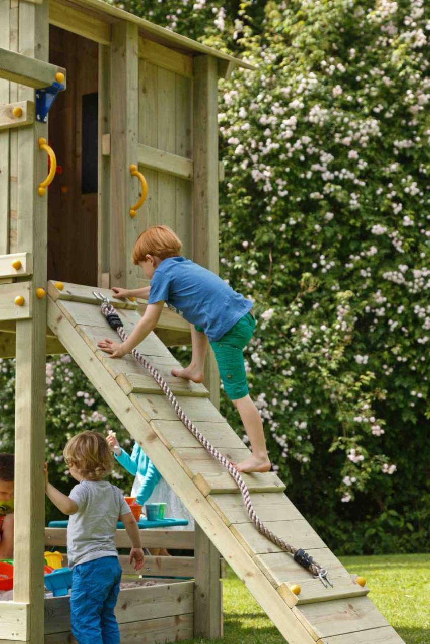 Kletterwand Spielturm @ramp von Blue Rabbit in Douglasie natur
