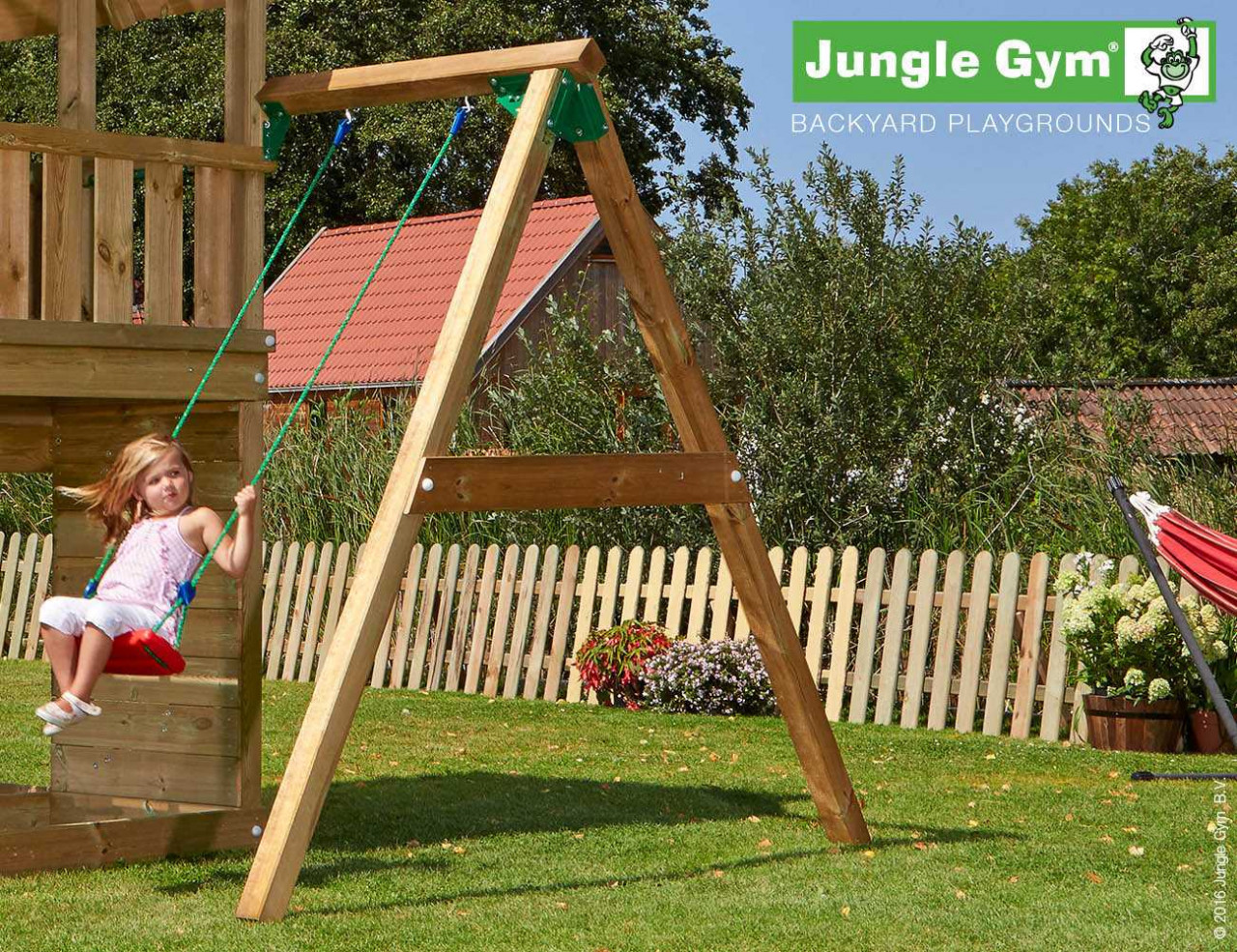 Anbauschaukel Jungle Gym 1-Schaukel-Modul in Douglasie natur