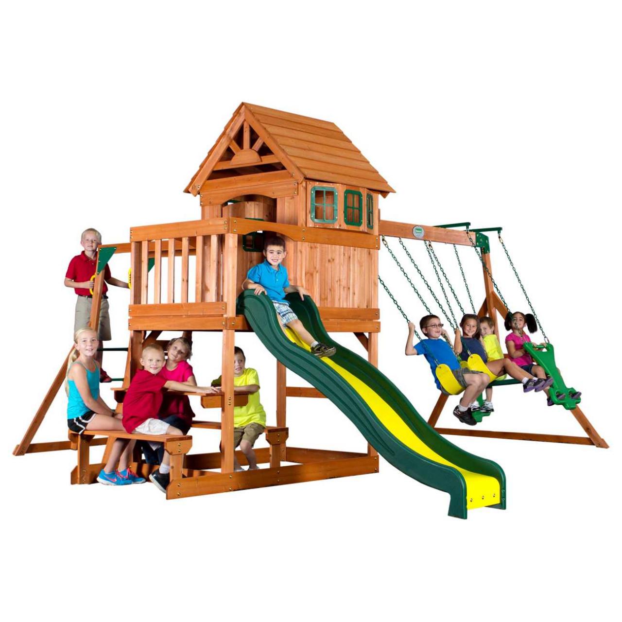 Backyard Spielturm Springboro für Kinder, spielen im Garten