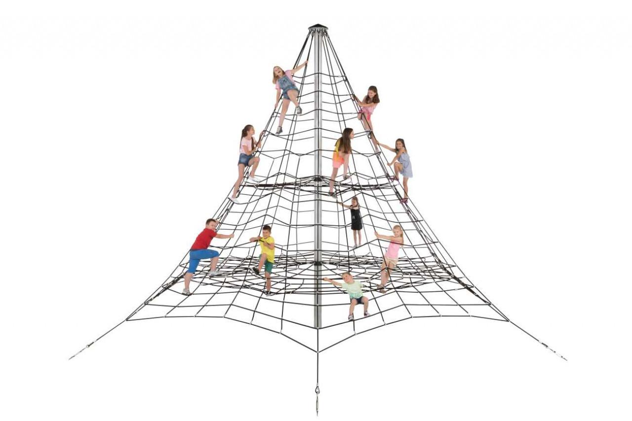 Klettergerüst, Kletternetz, 5,50 m hoch Spielplatz Kletterpyramide