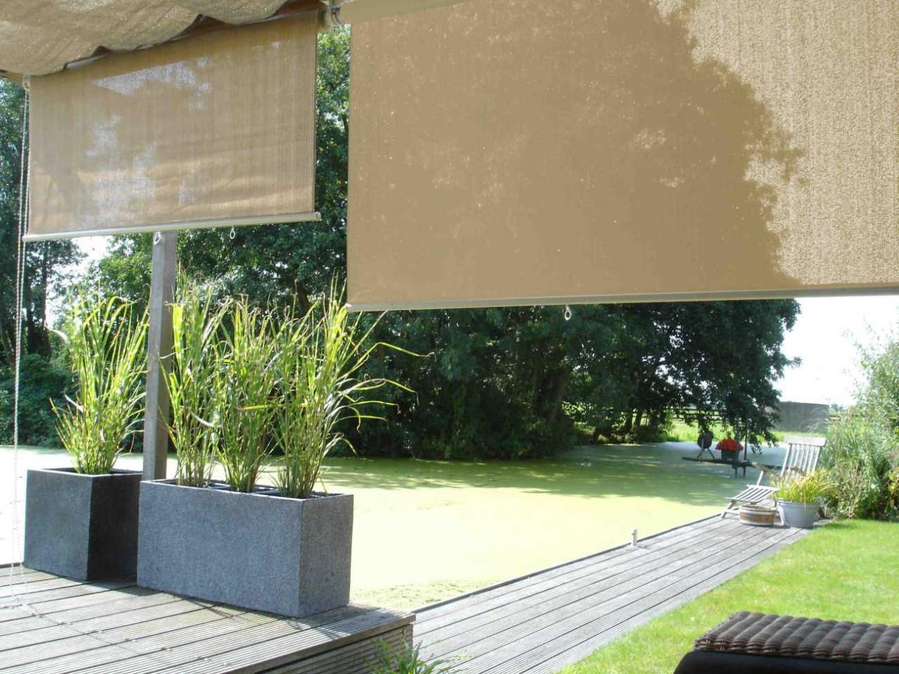 Nesling Rollo 248 cm Außenrollo, Sonnenschutz, Sichtschutz, Balkonrollo
