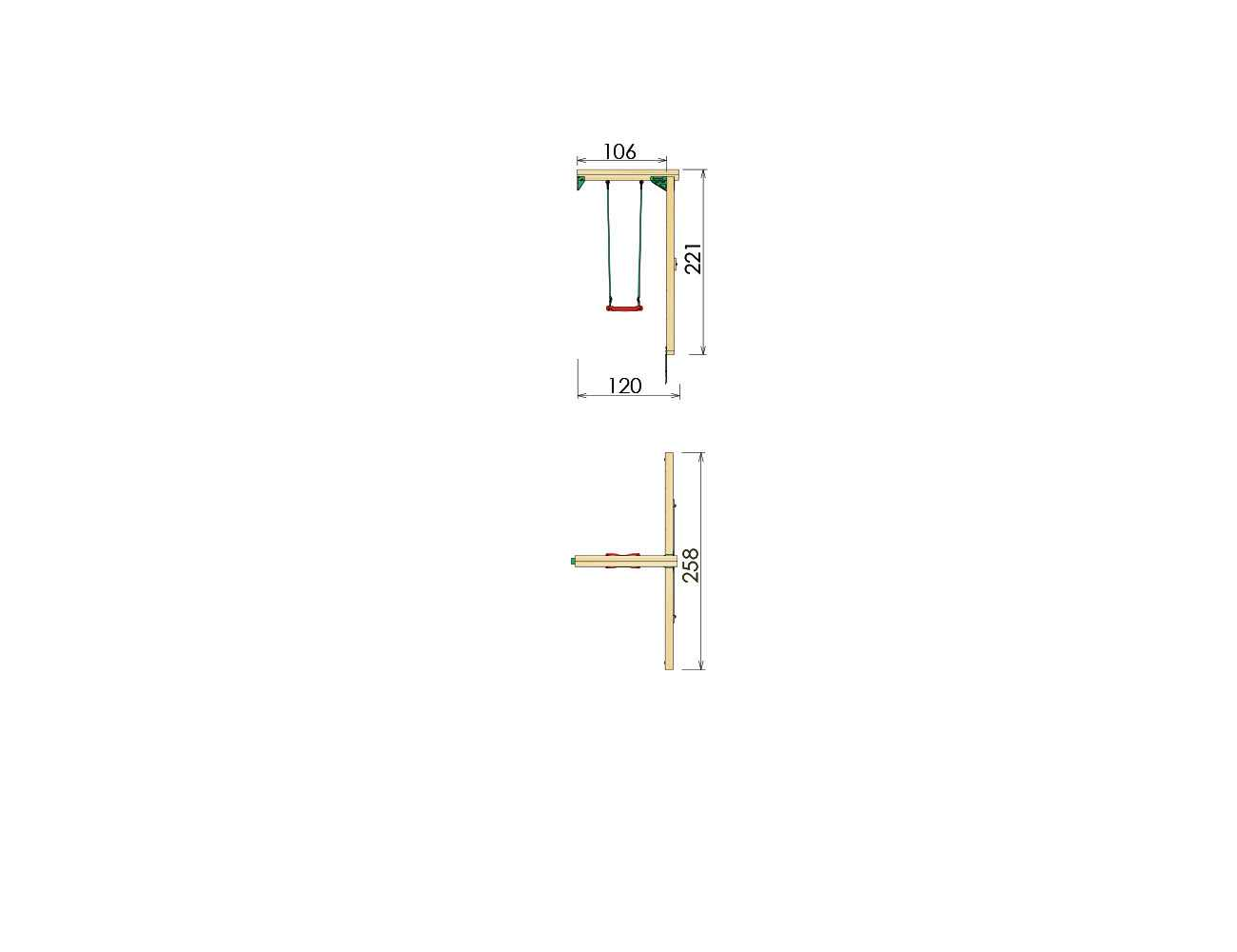 kids-swing-frame-1-swing-module-dimensions