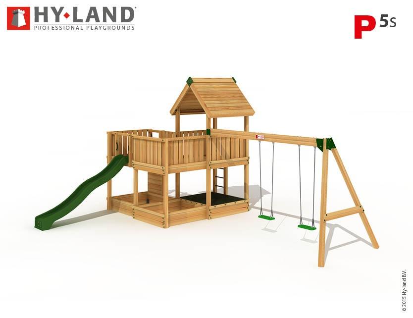 Hy-Land Spielturm P5-S mit Anbauschaukel