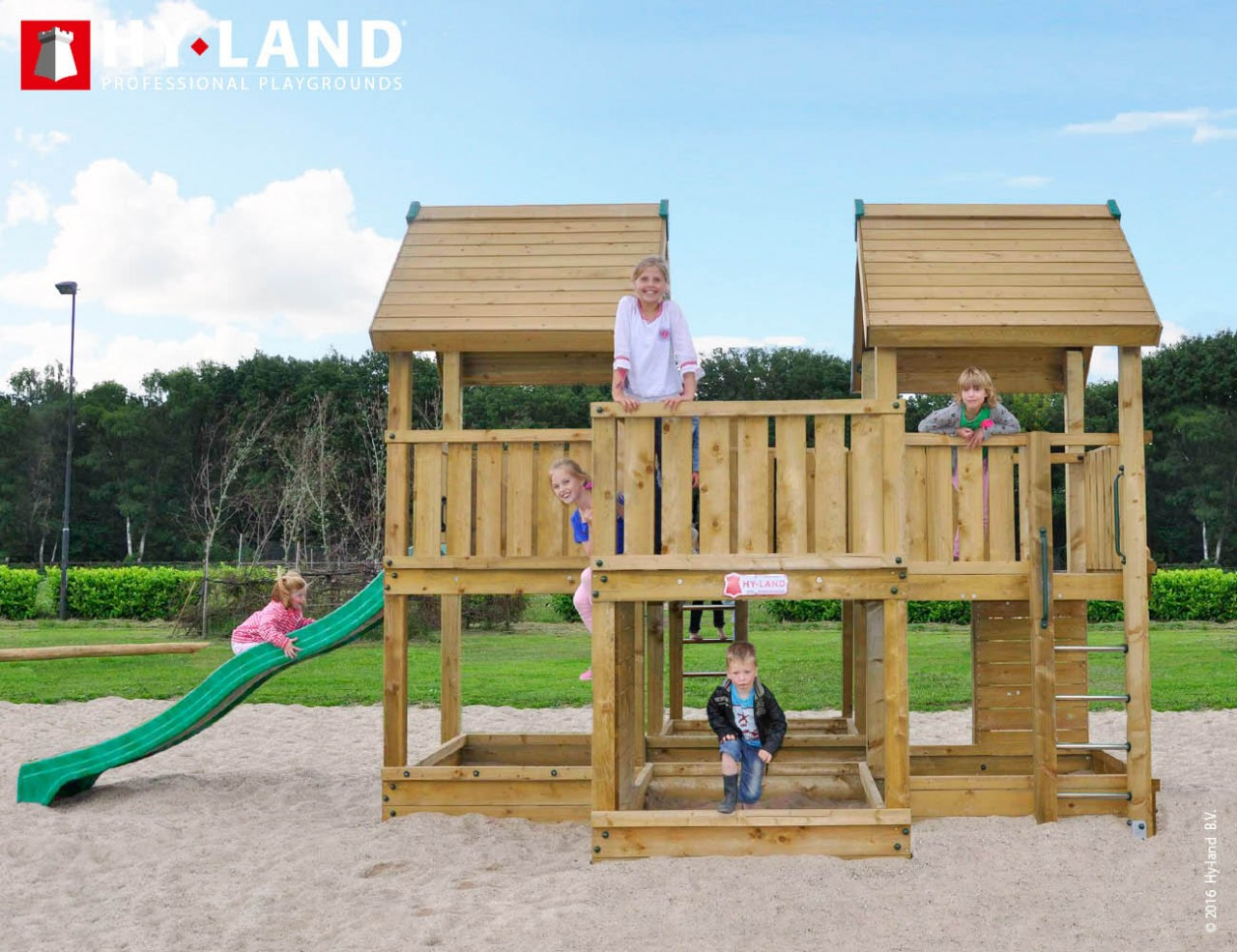 Spielturm Hy-Land P7 in Douglasie
