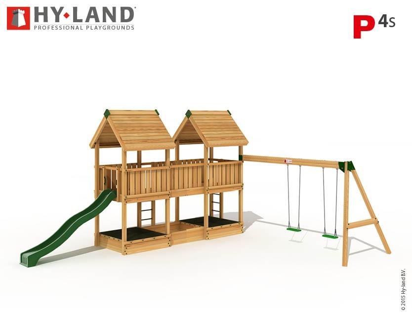 Hy-Land Spielturm P4-S mit Anbauschaukel