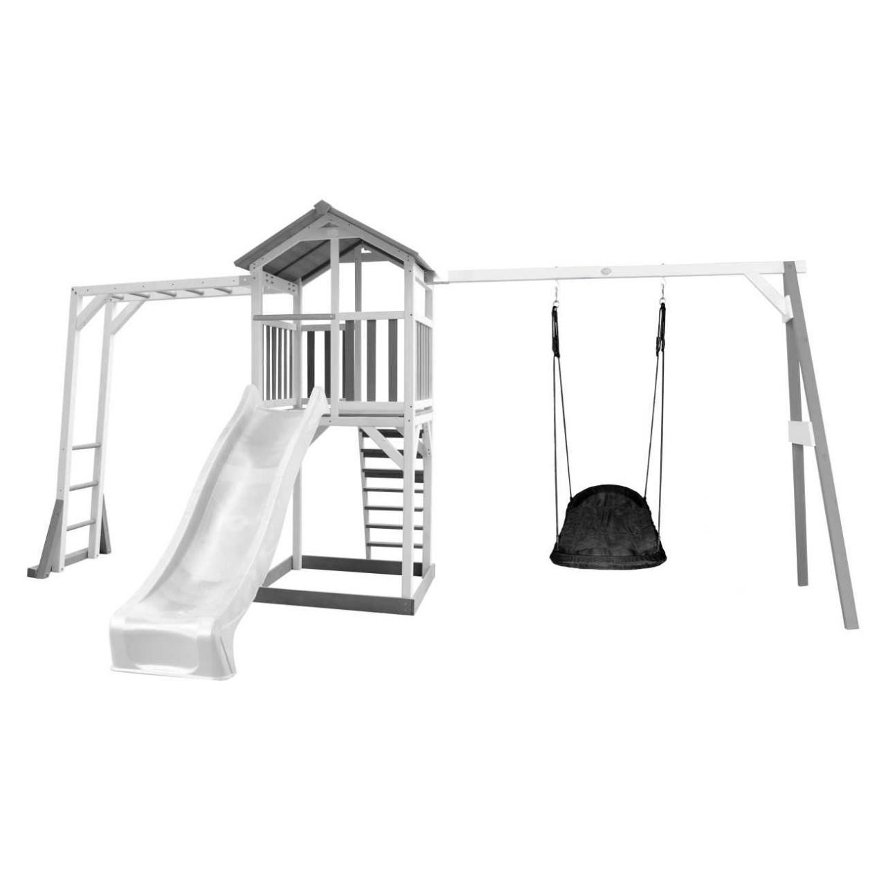 Spielturm Beach Tower mit Hangelleiter und Nestschaukel Grandoh
