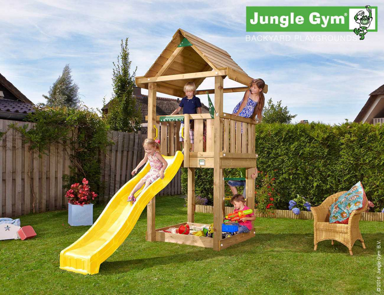 Spielturm Jungle Gym House