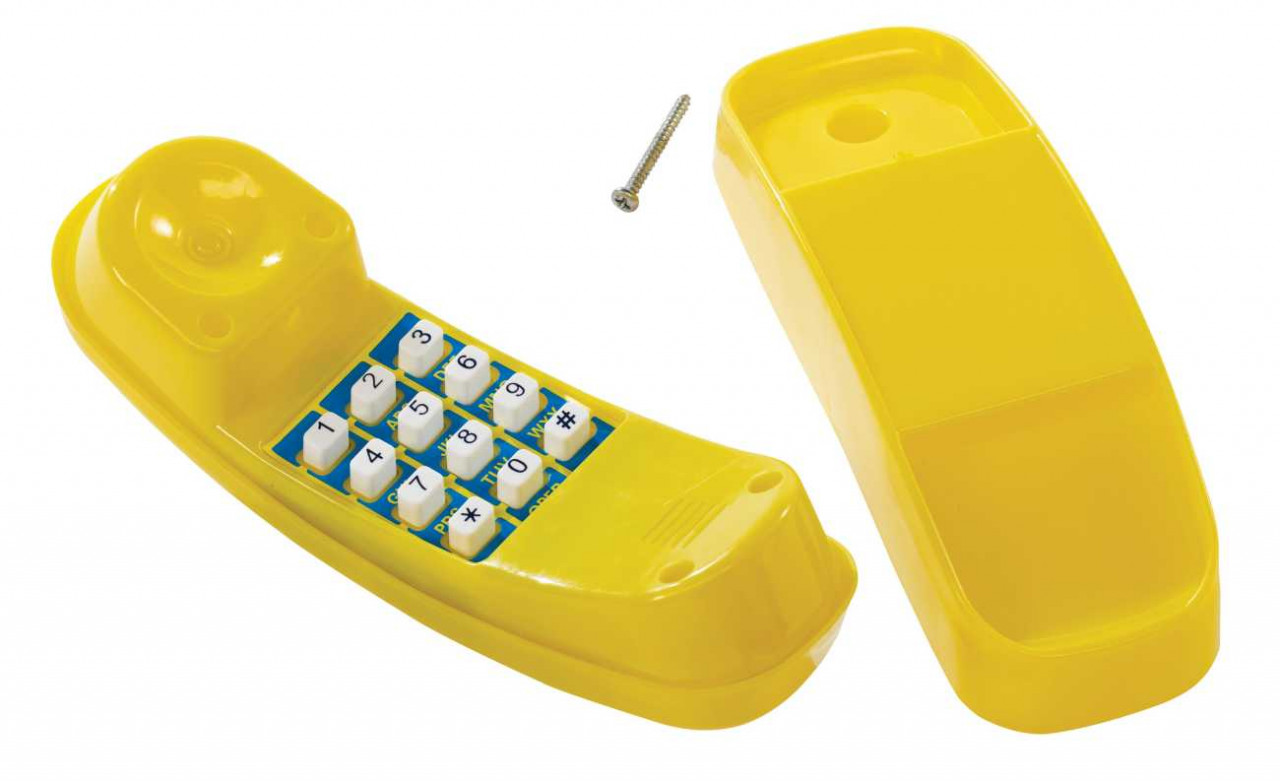 Telefon gelb für Spielturm
