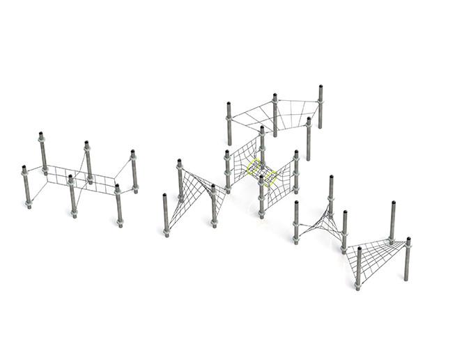 Klettergerüst Kletternetz Kmira für Klettergarten Spielplätze nach DIN EN 1176