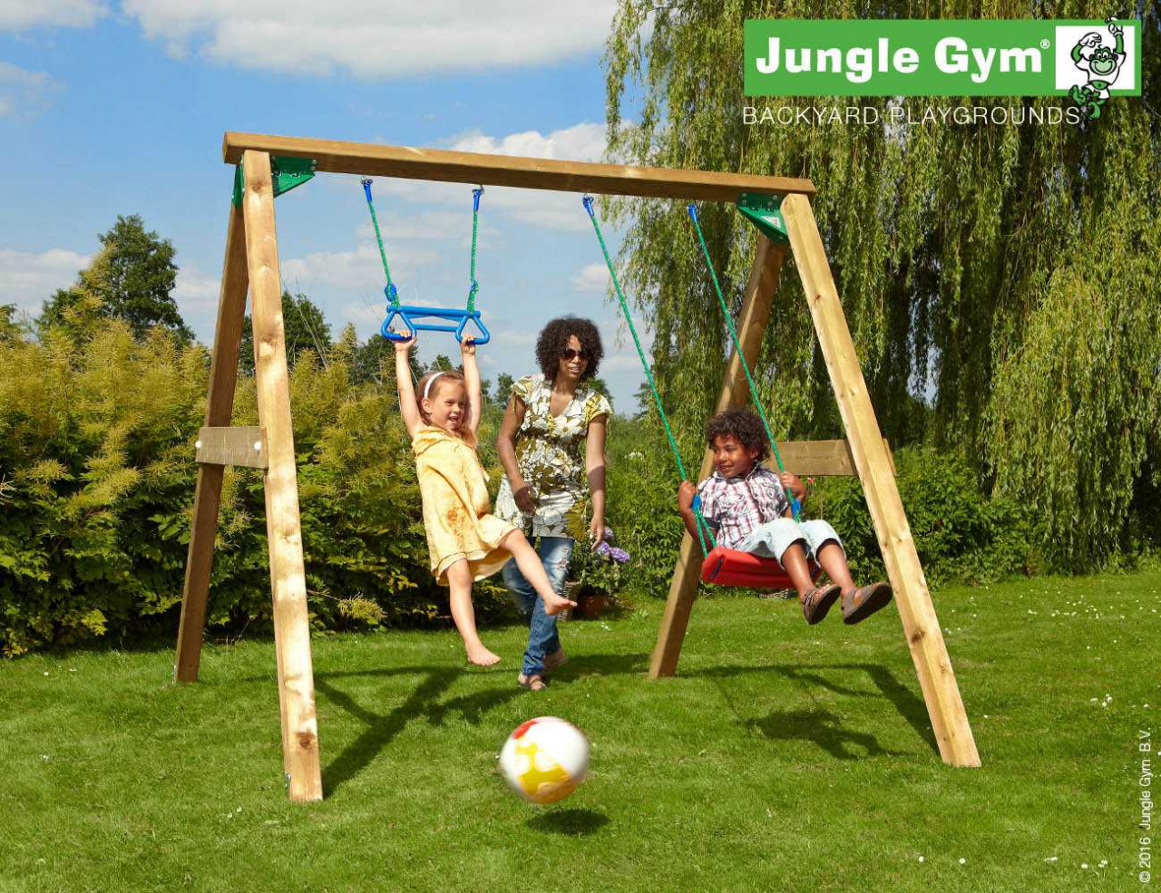 Schaukel Holz Jungle Gym Swing XL in DOuglasie natur