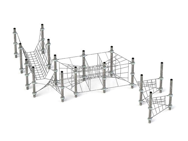 Klettergerüst Kletternetz Novena für Klettergarten Spielplätze nach DIN EN 1176