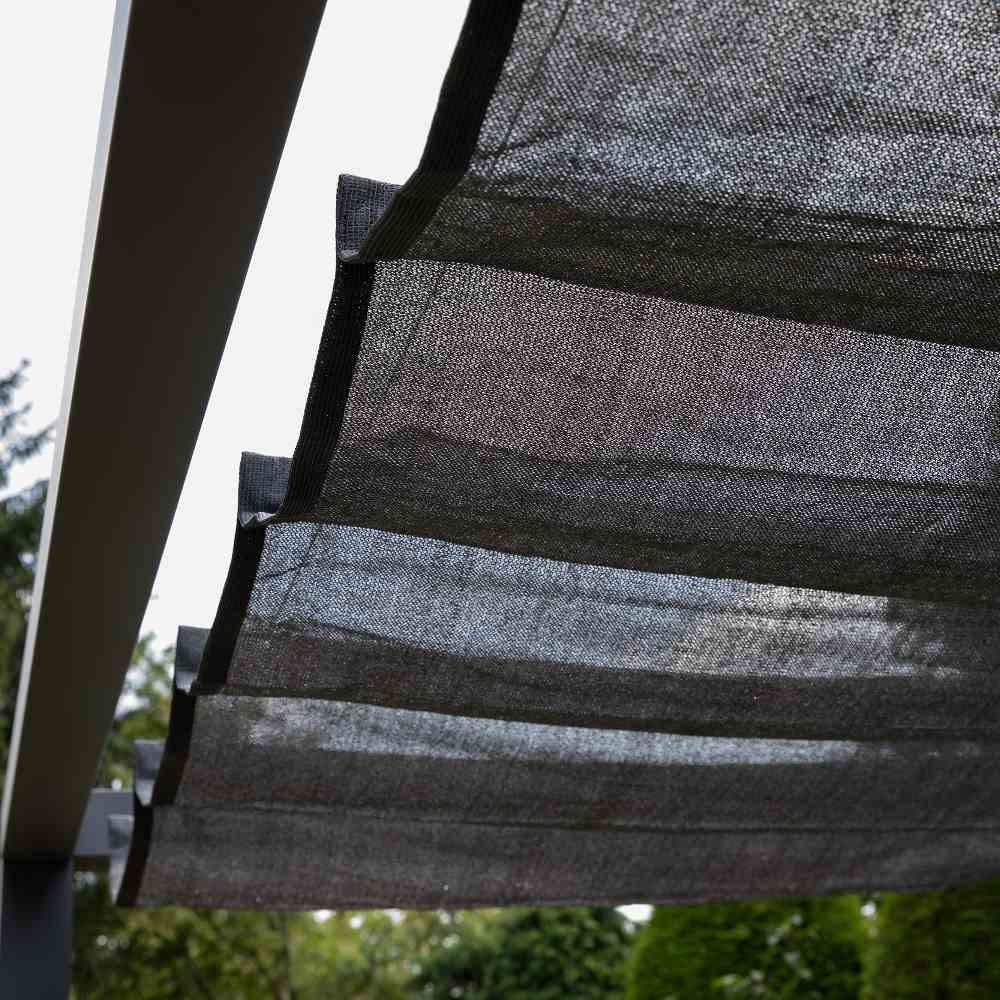 Coolfit Faltsonnensegel von Nesling 370 x 500 cm, Sonnensegel, verstellbar, Sonnenschutz
