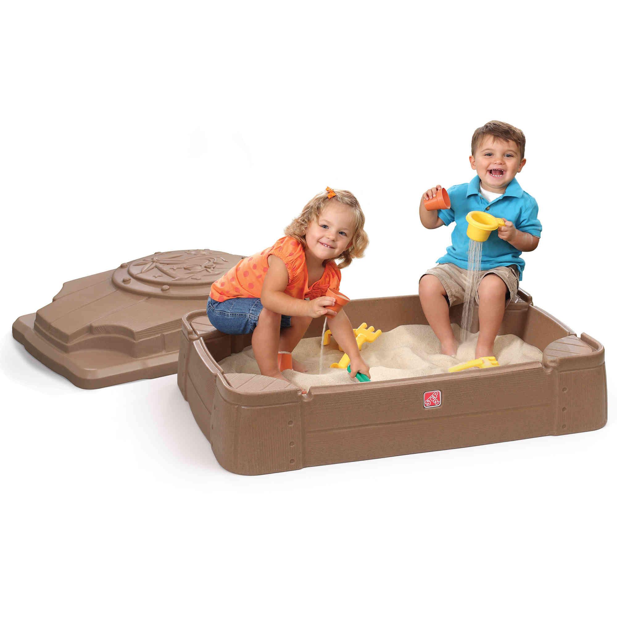Sandkasten Sandbox | mit Boden und Deckel