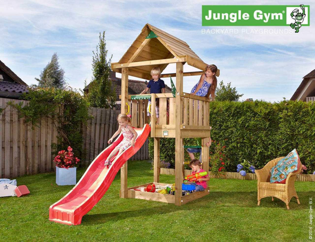 Spielturm Jungle Gym House in Douglasie natur