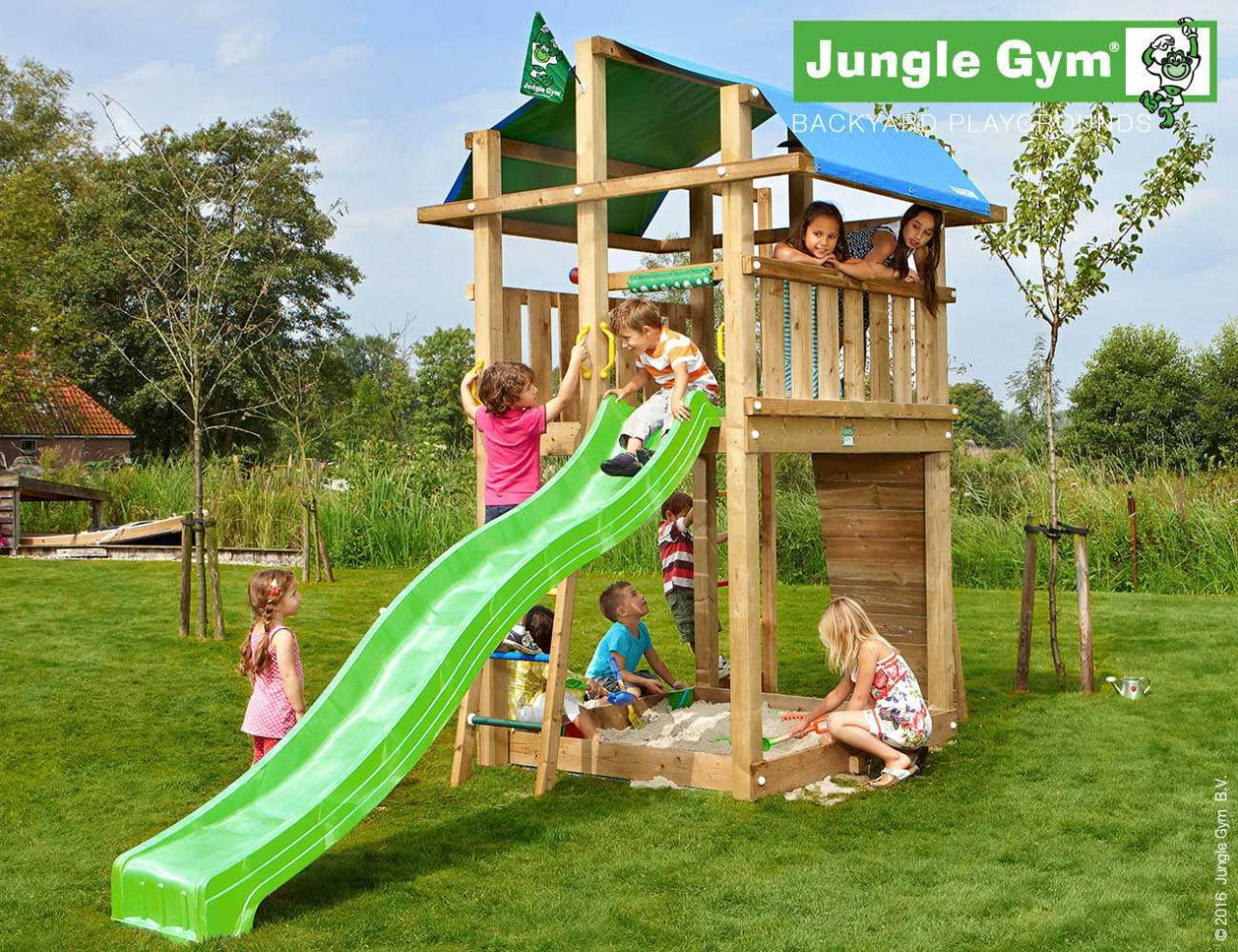 Spielturm Jungle Gym Fort in Douglasie natur