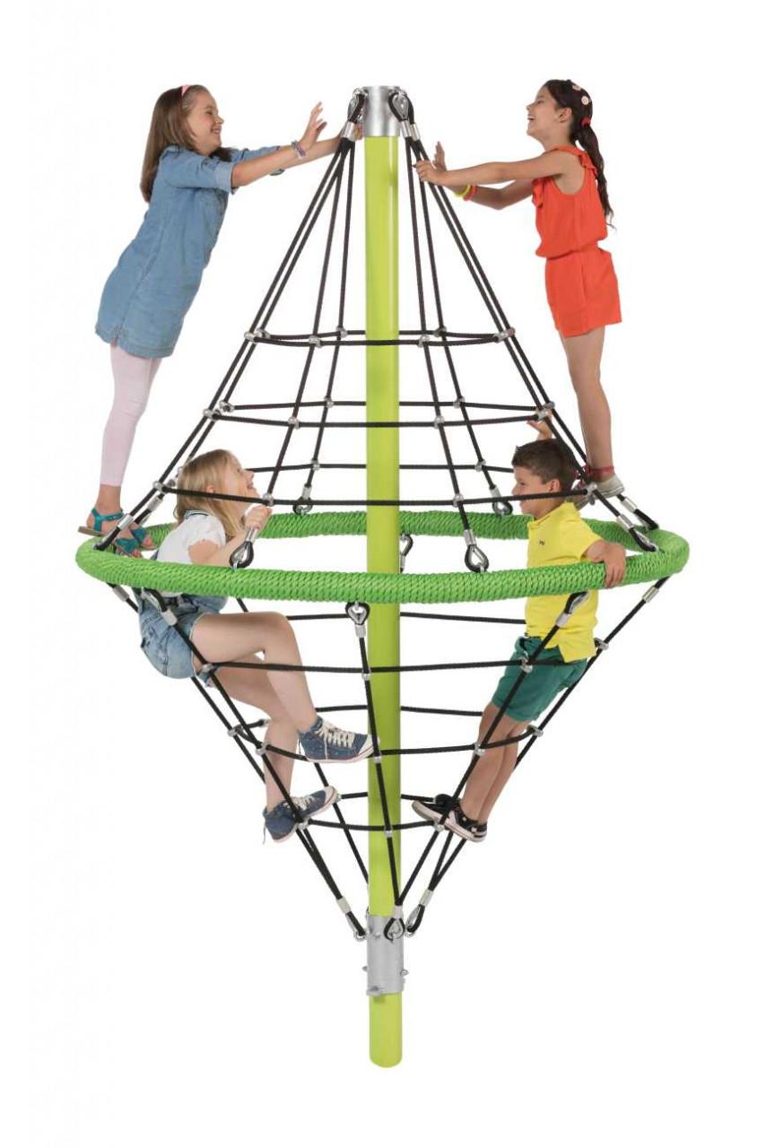 Spielplatz Klettergerüst, Kletterpyramide, Kletternetz, Diamond