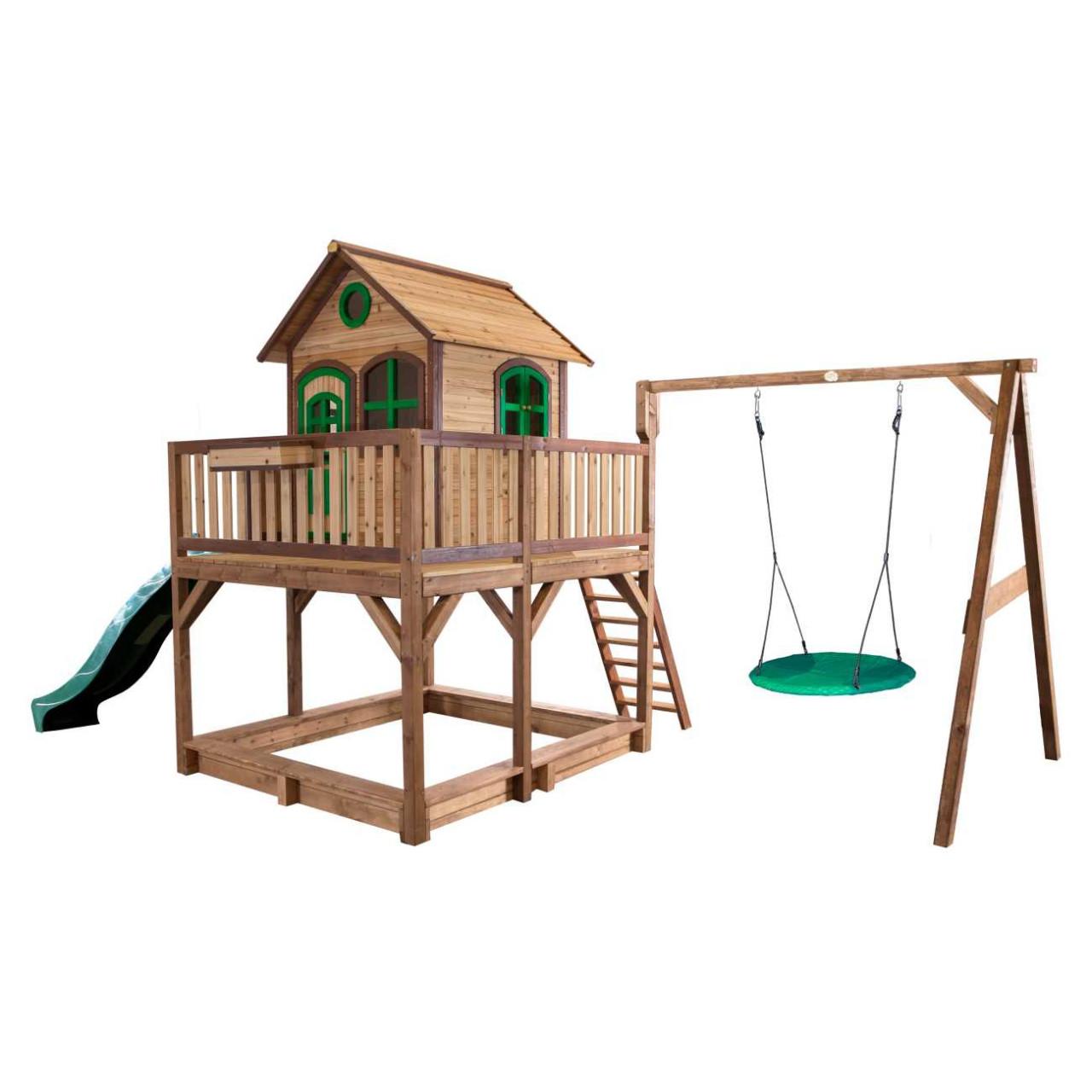 Axi Stelzenhaus Liam mit Nestschaukel Winkoh, Kinder Spielhaus