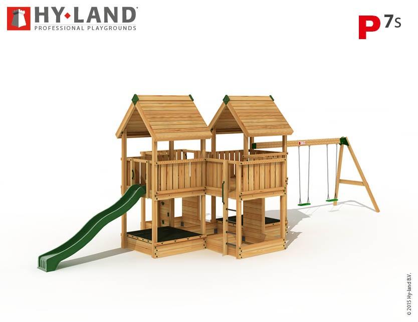 Hy-Land Spielturm P7-S mit Anbauschaukel