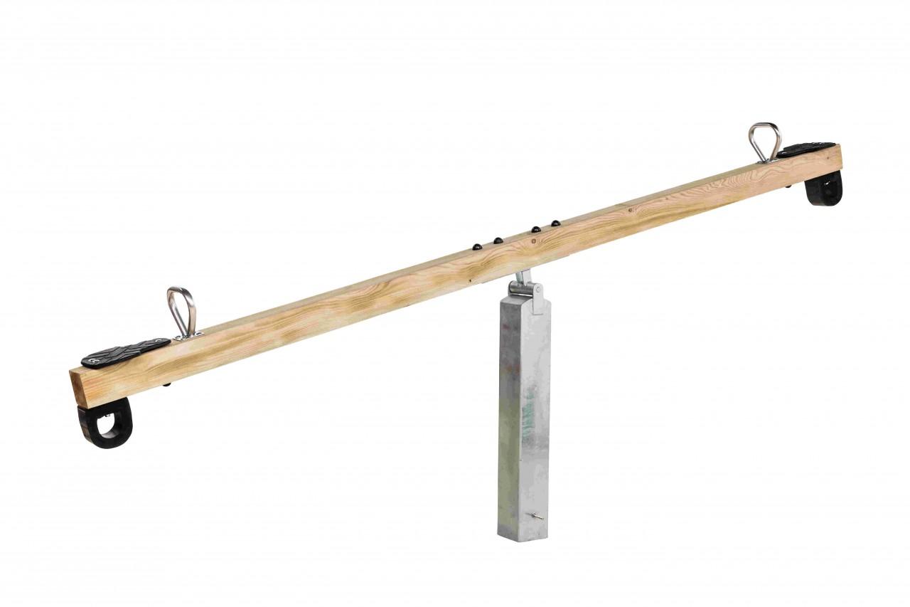 Komplettset Wippe mit verzinktem Standfuß mit Gelenk, öffentlicher Spielplatz