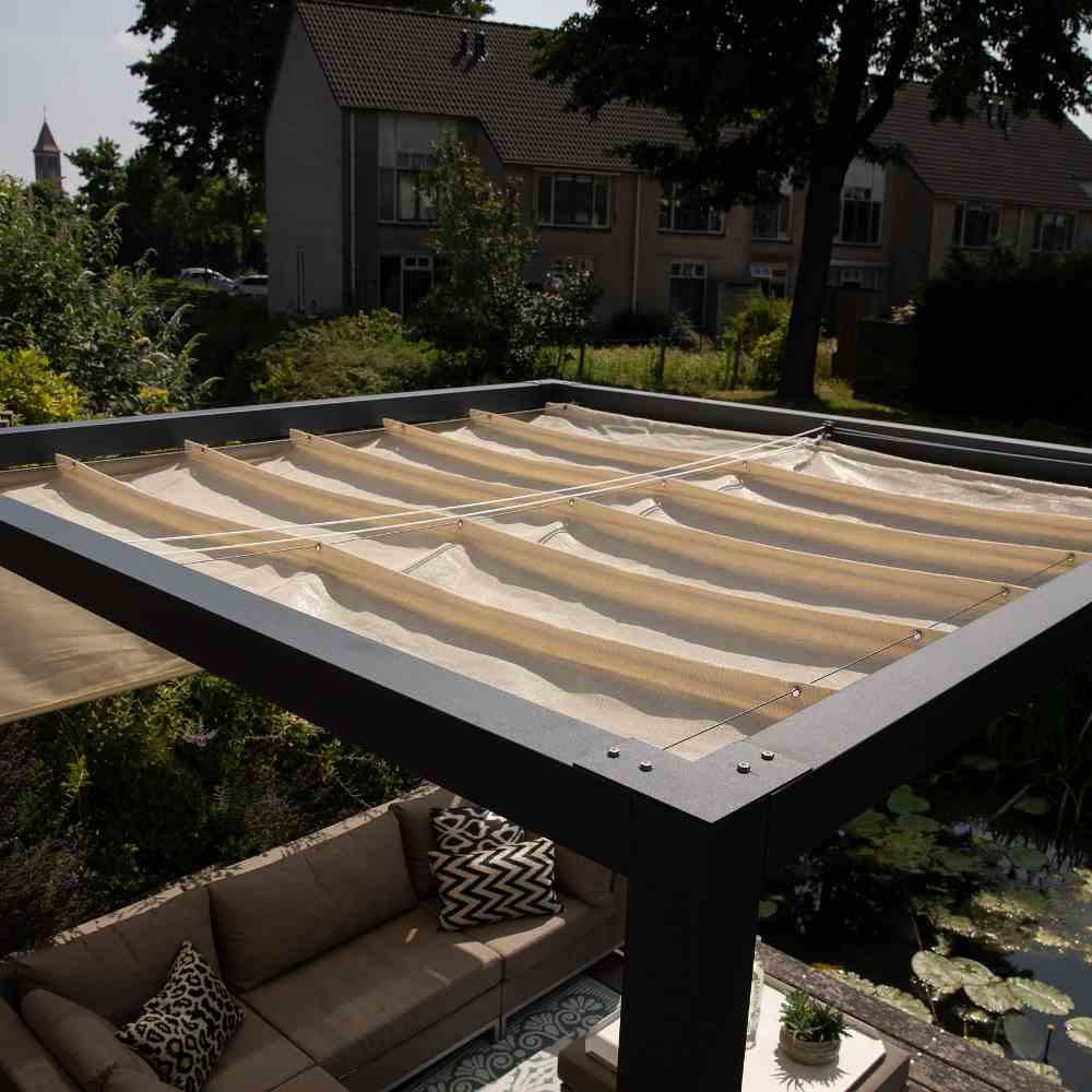 Coolfit Faltsonnensegel von Nesling 290 x 500 cm, Sonnensegel, verstellbar, Sonnenschutz
