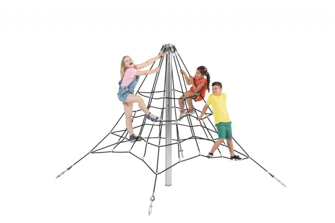 Kletterpyramide, Kletternetz, 2,0 m, Klettergerüst, Kinder Spielplatz
