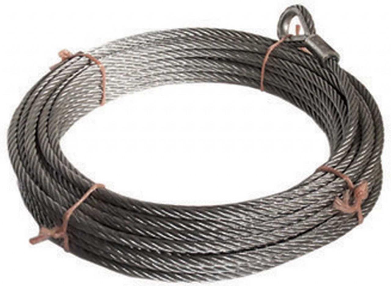 Tragseil, Stahlseil, für Seilbahn, nach DIN EN 1176, 25 m lang