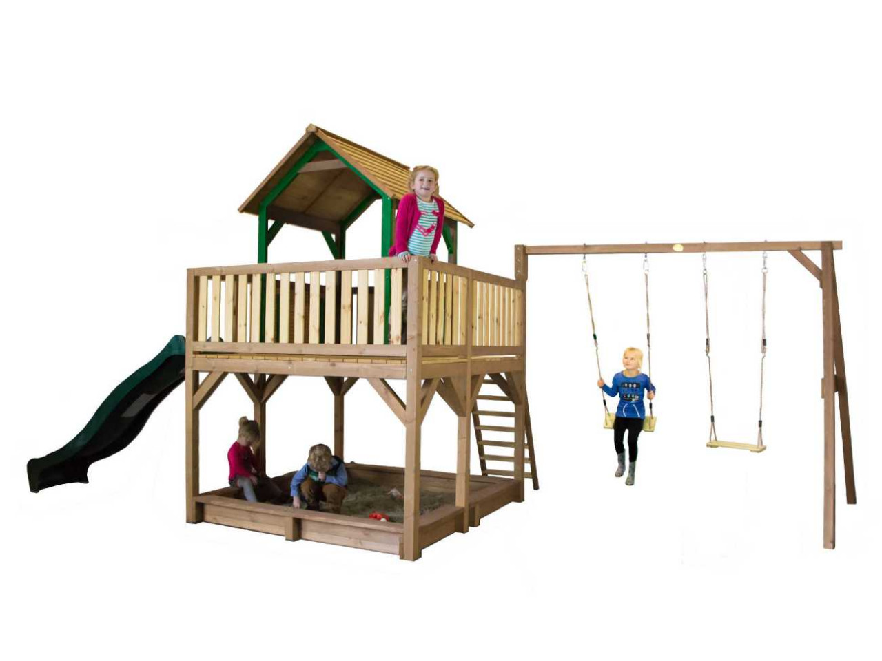 Spielturm Atka mit 2-Schaukel, Axi Spielturm, Kinder
