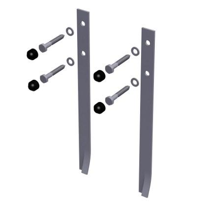 Bodenanker Standard, zum Einbetonieren, 2er-Set für Spielturm und Schaukel