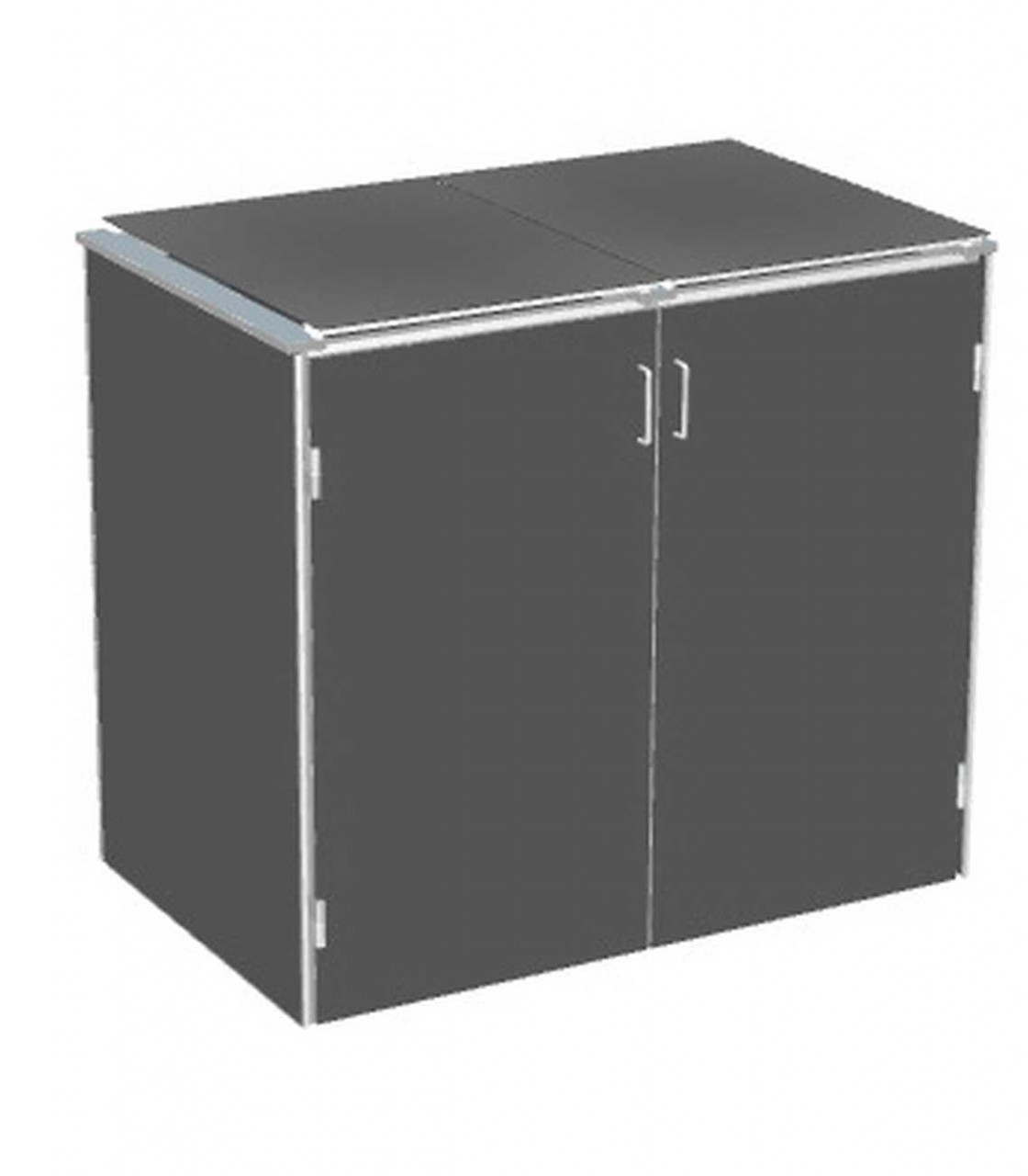 Binto Mülltonnenbox HPL Schiefer mit HPL Klappdeckel