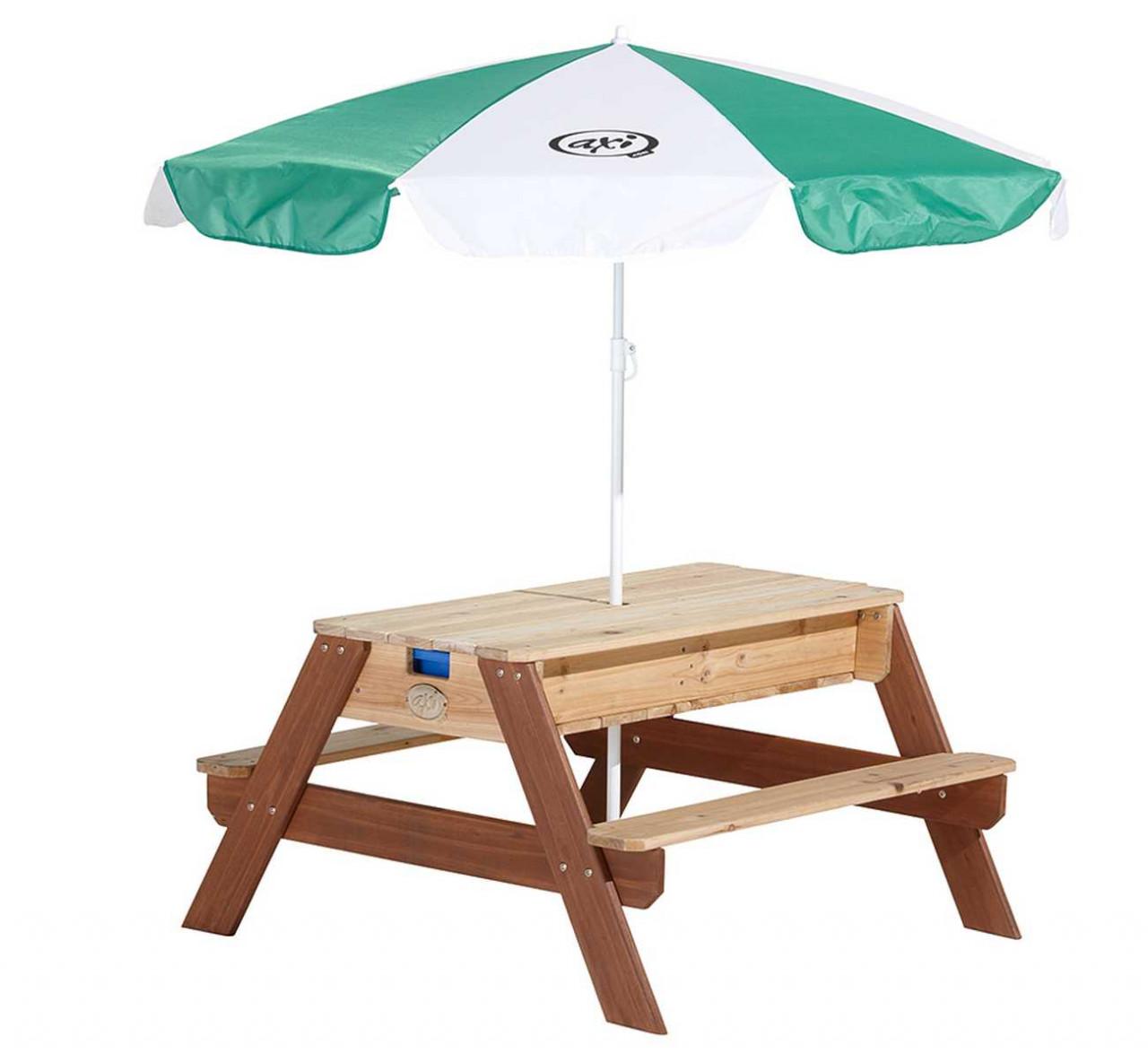 Nick Picnic-Tisch Sand & Wasser mit Sonnenschirm für Kinder