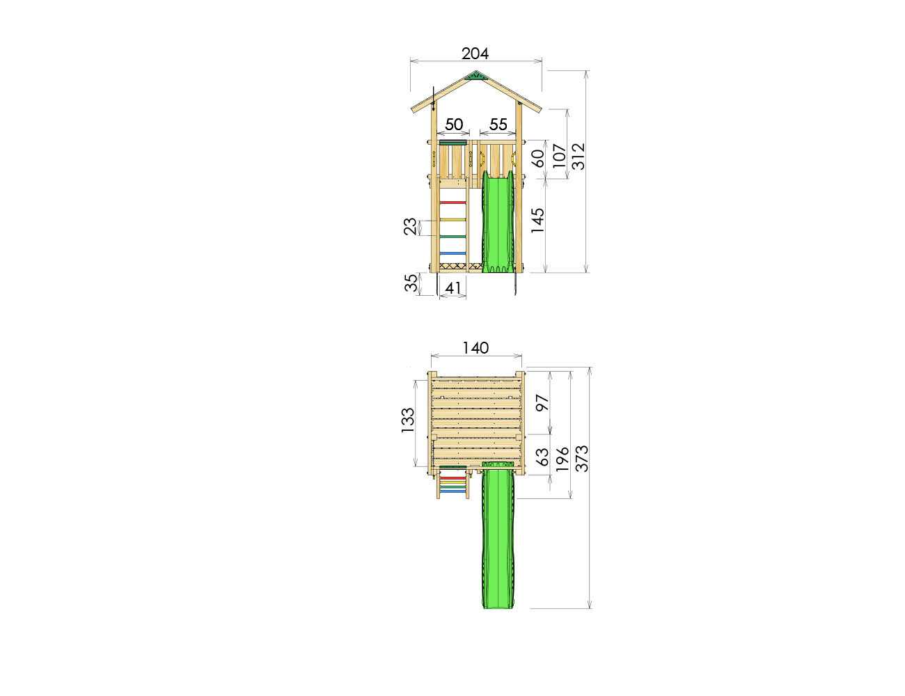 climing-frame-slide-jungle-chalet-dimensions