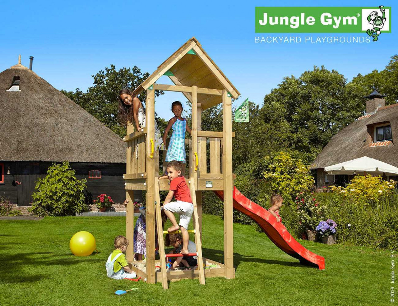Spielturm Jungle Gym Club in Douglasie natur