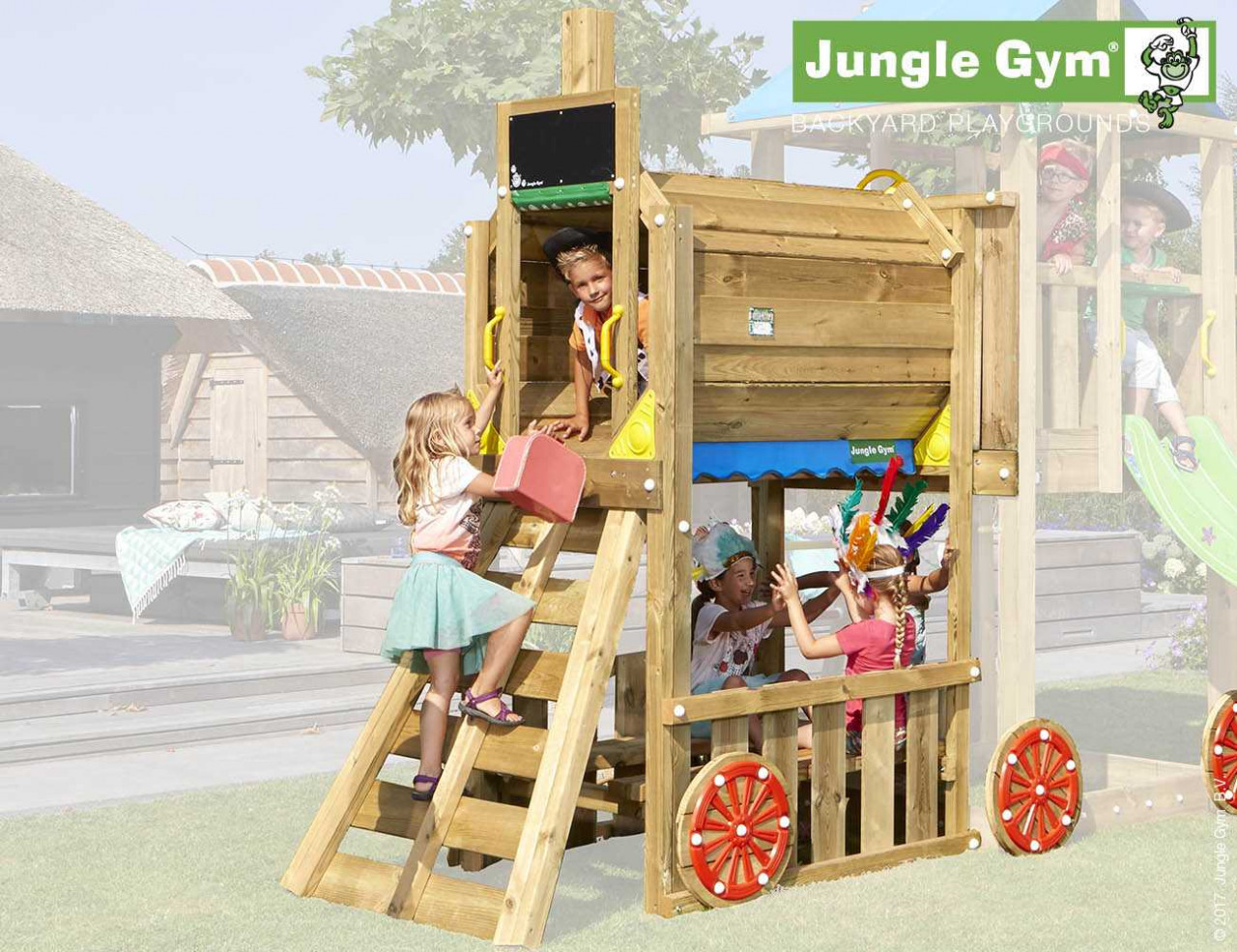 Jungle Gym Train-Modul in Douglasie natur
