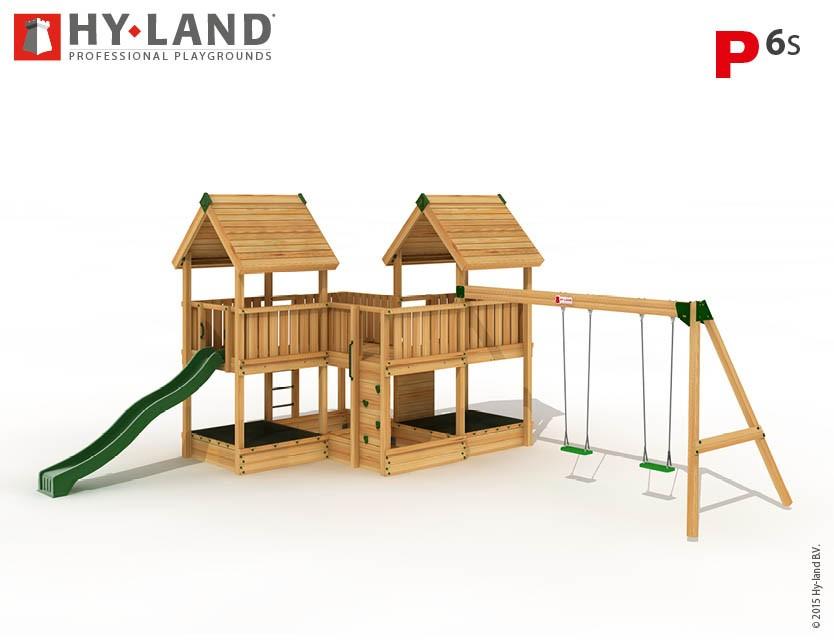 Hy-Land Spielturm P6-S mit Anbauschaukel