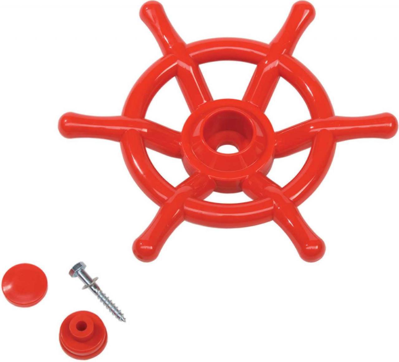 Schiffslenkrad rot 35 cm Ø