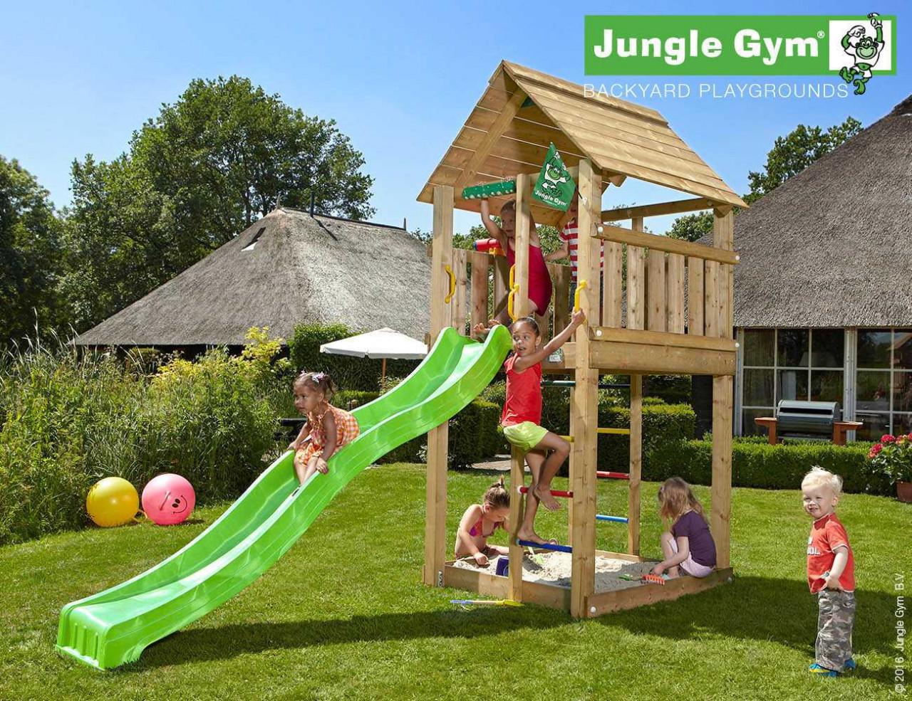 Spielturm Rutsche Cabin von Jungle Gym
