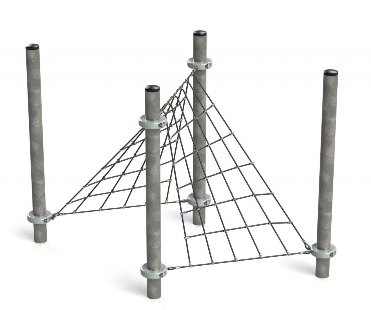 Klettergerüst Kletternetz Tent für Kinder Spielplätze nach DIN EN 1176