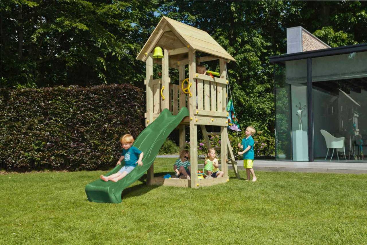 Spielturm Kiosk von Blue Rabbit in Douglasie Natur