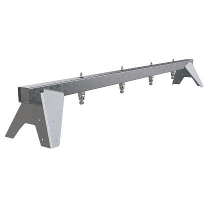 Metall Schaukelbalken für 2 Schaukelsitze, DIN EN 1176