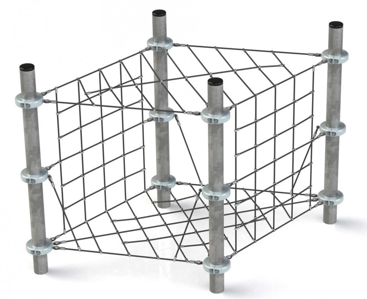 Klettergerüst Kletternetz Cube für Kinder Spielplätze nach DIN EN 1176