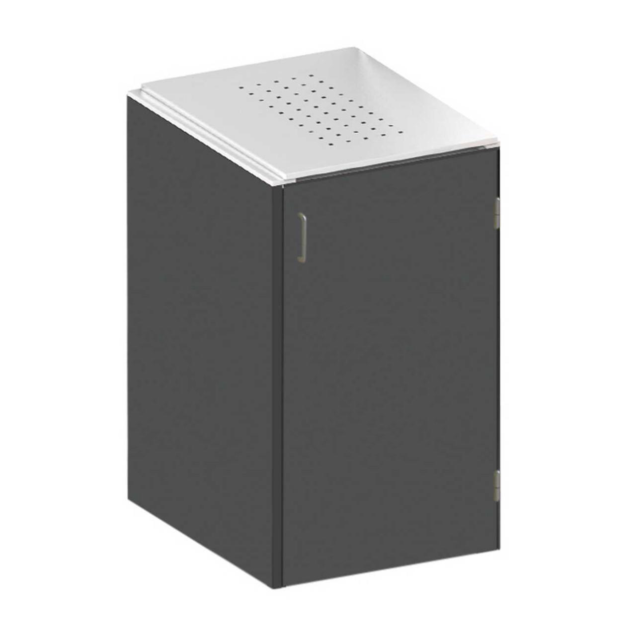 Binto Müllbox HPL Schiefer mit Edelstahl Klappdeckel